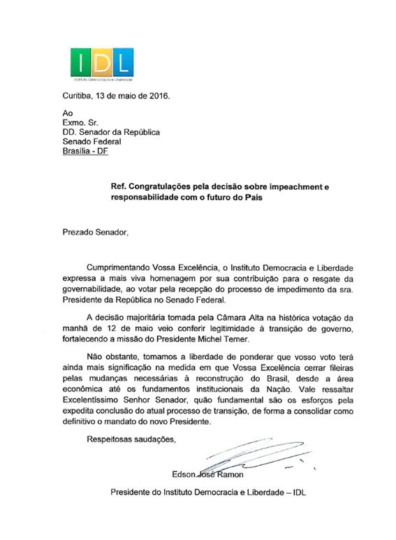 carta senadores_congratulações