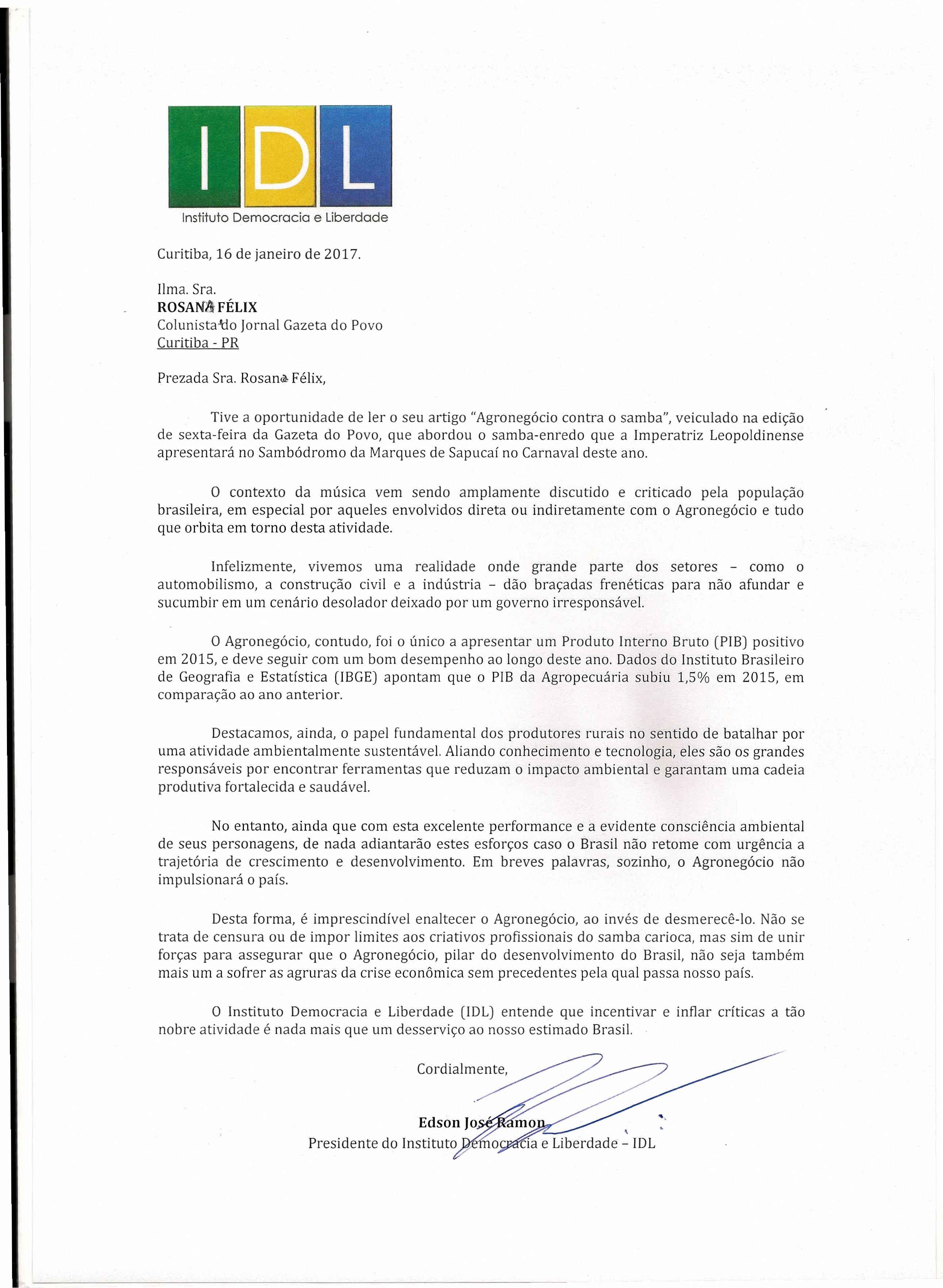 Carta Jornalista Rosana Félix0001