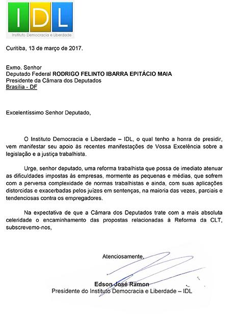 Carta_Dep Rodrigo Maia
