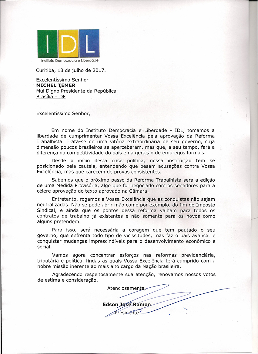 CARTA PRESIDENTE MICHEL TEMER0001