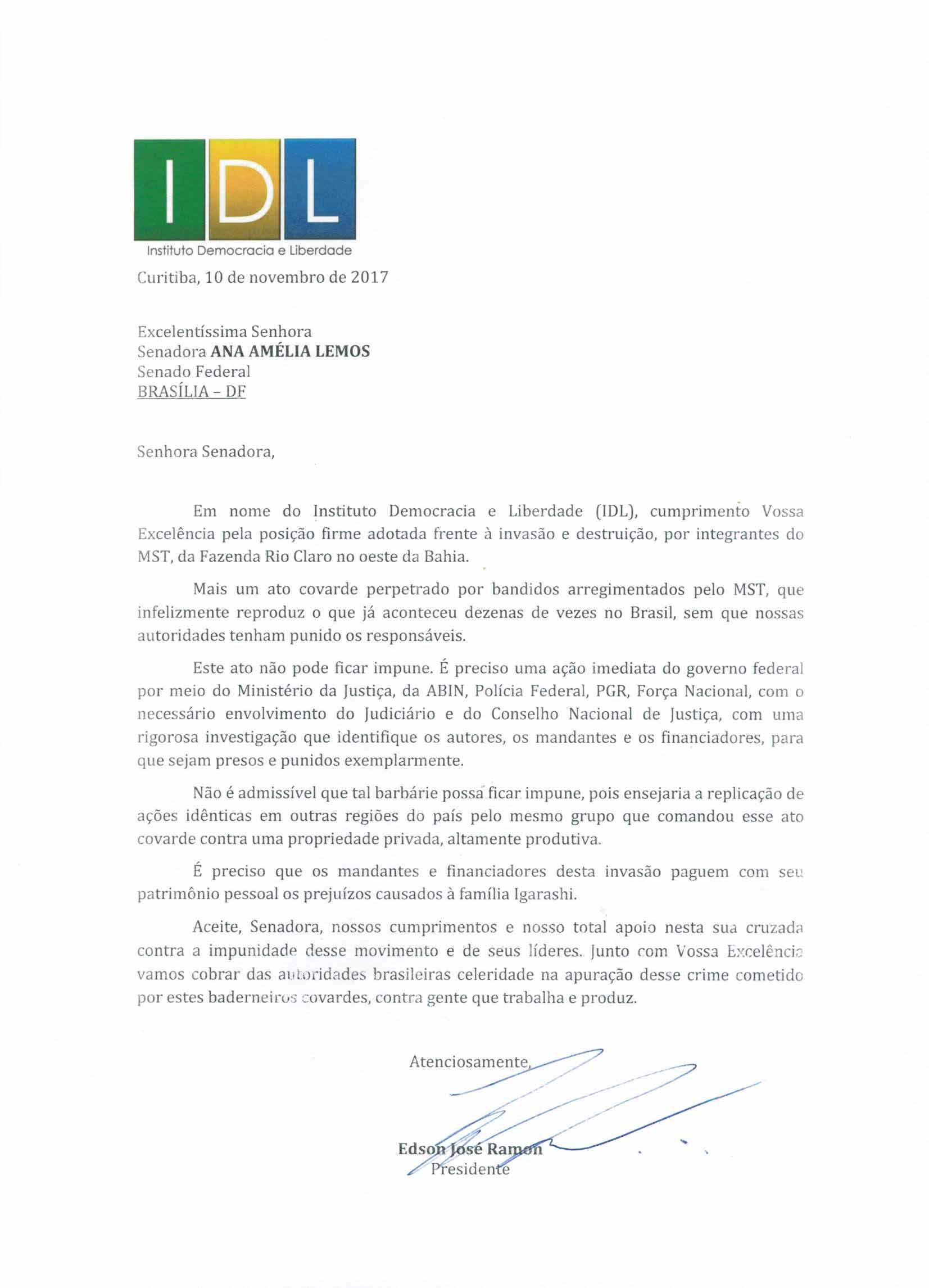 Carta Ana Amélia