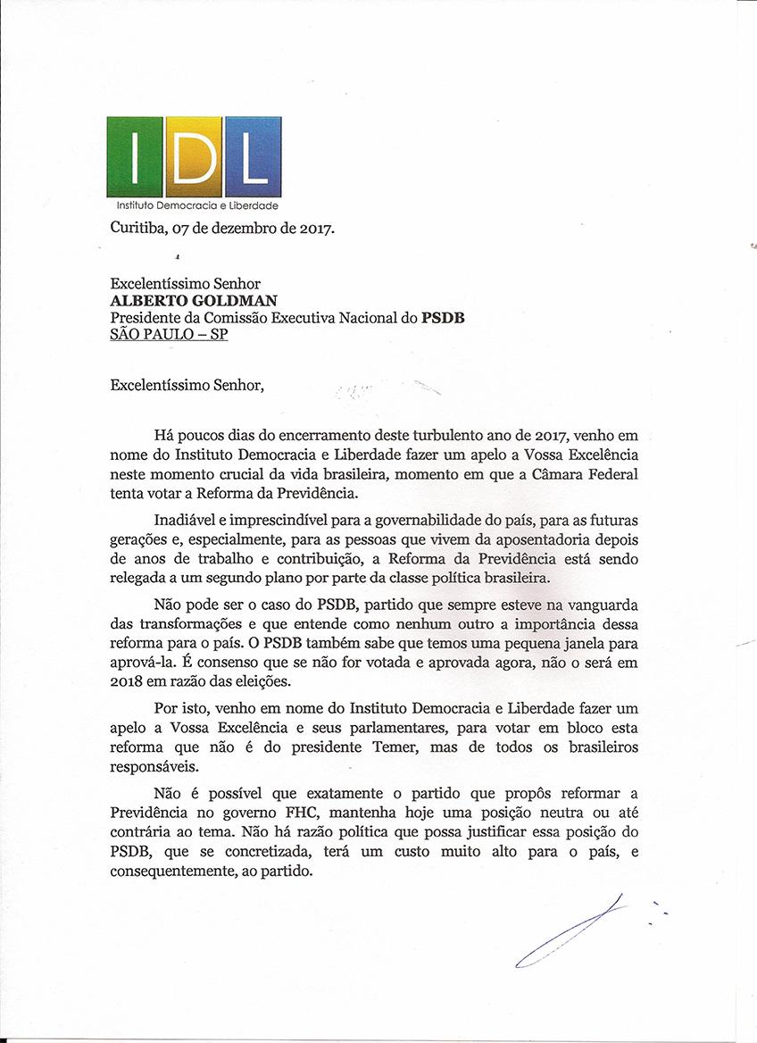 Presidente da Comissão Executiva Nacional do PSDB0001-1