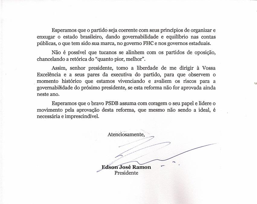 Presidente da Comissão Executiva Nacional do PSDB0001-2