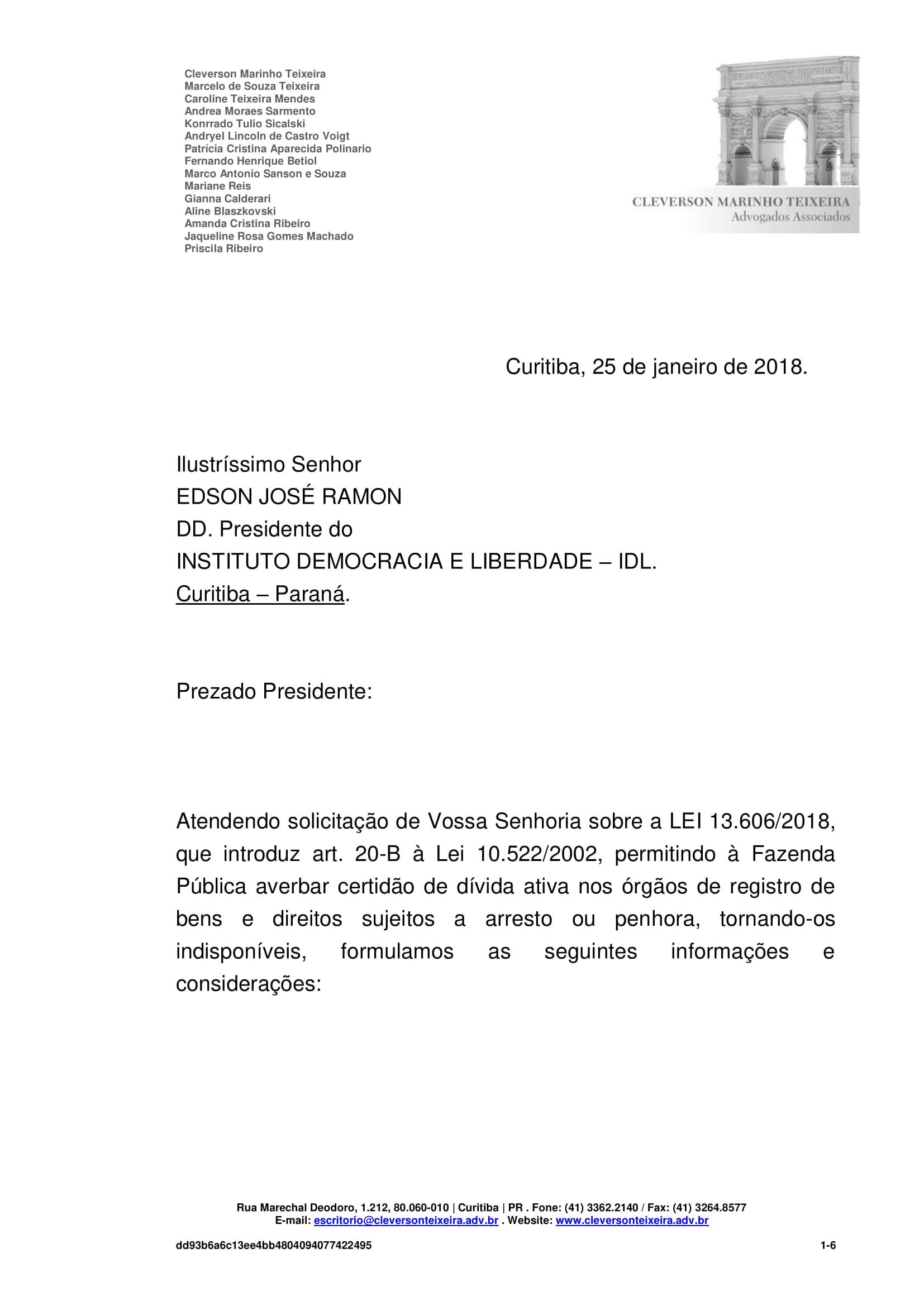 MANIFESTAÇÃO - IDL 2 (25 01 2016) (1)-1