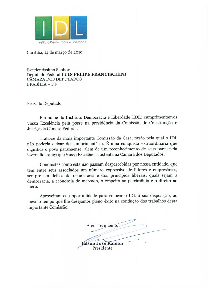 Deputado Federal LUIS FELIPE FRANCISCHINI