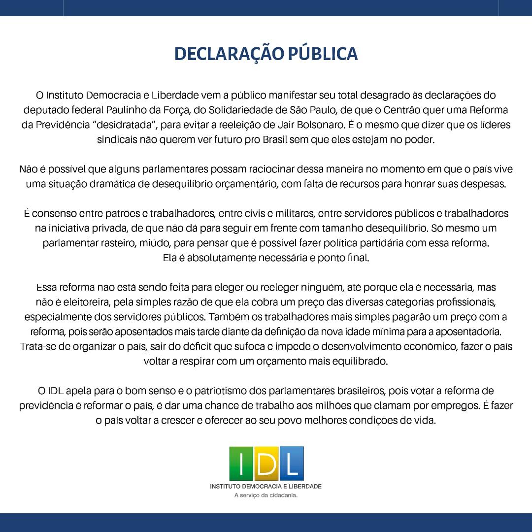 Declaração pública_IDL