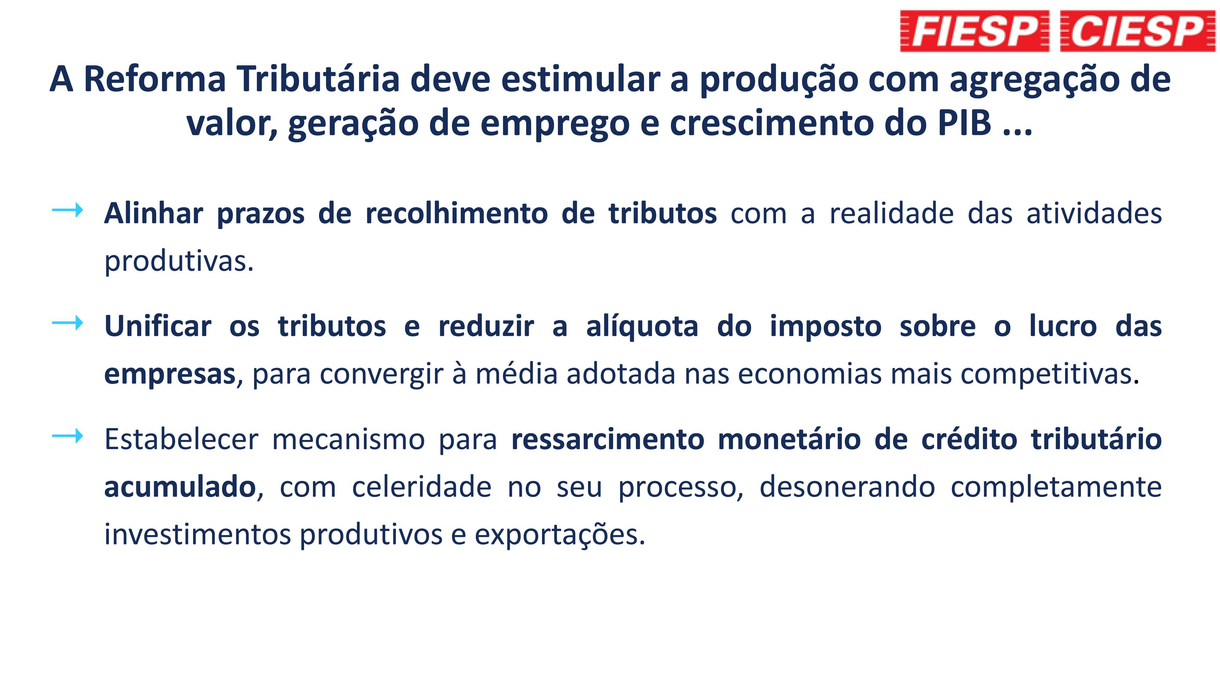 Proposta para redução do imposto sobre o lucro das empresas VE