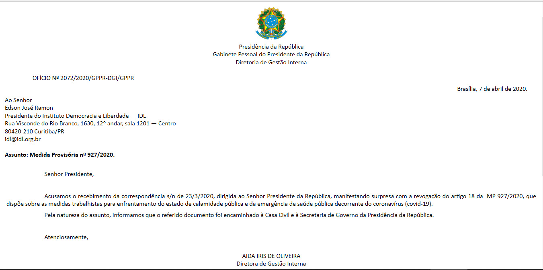 CARTA_Gabinete República