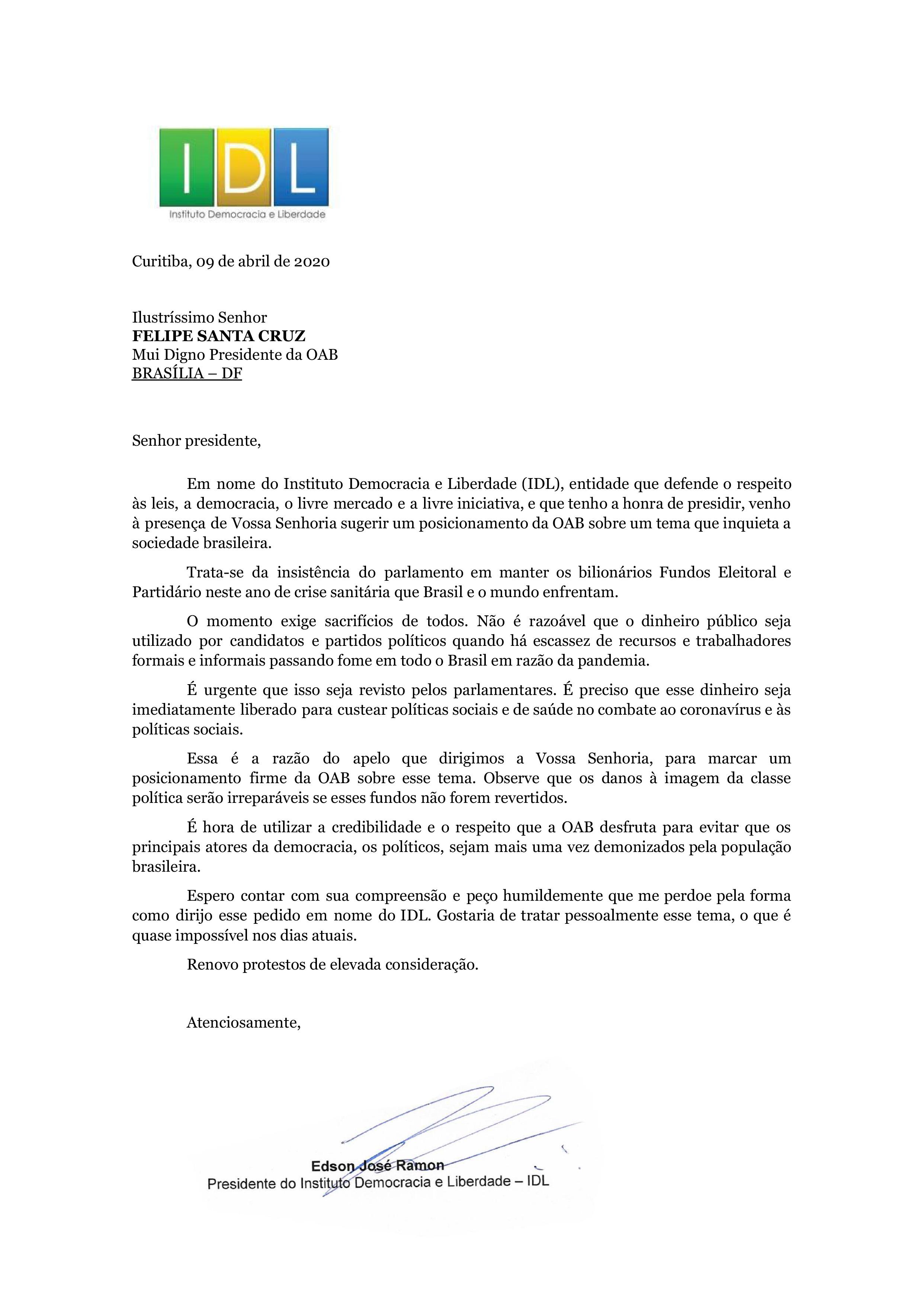 Carta ao presidente da OAB_09042