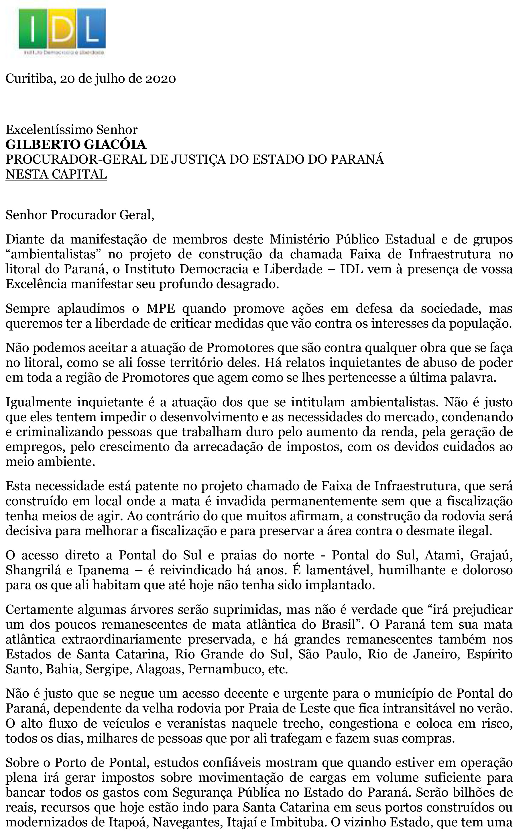 Carta defendendo o Porto de Pontal REVISADA III-1