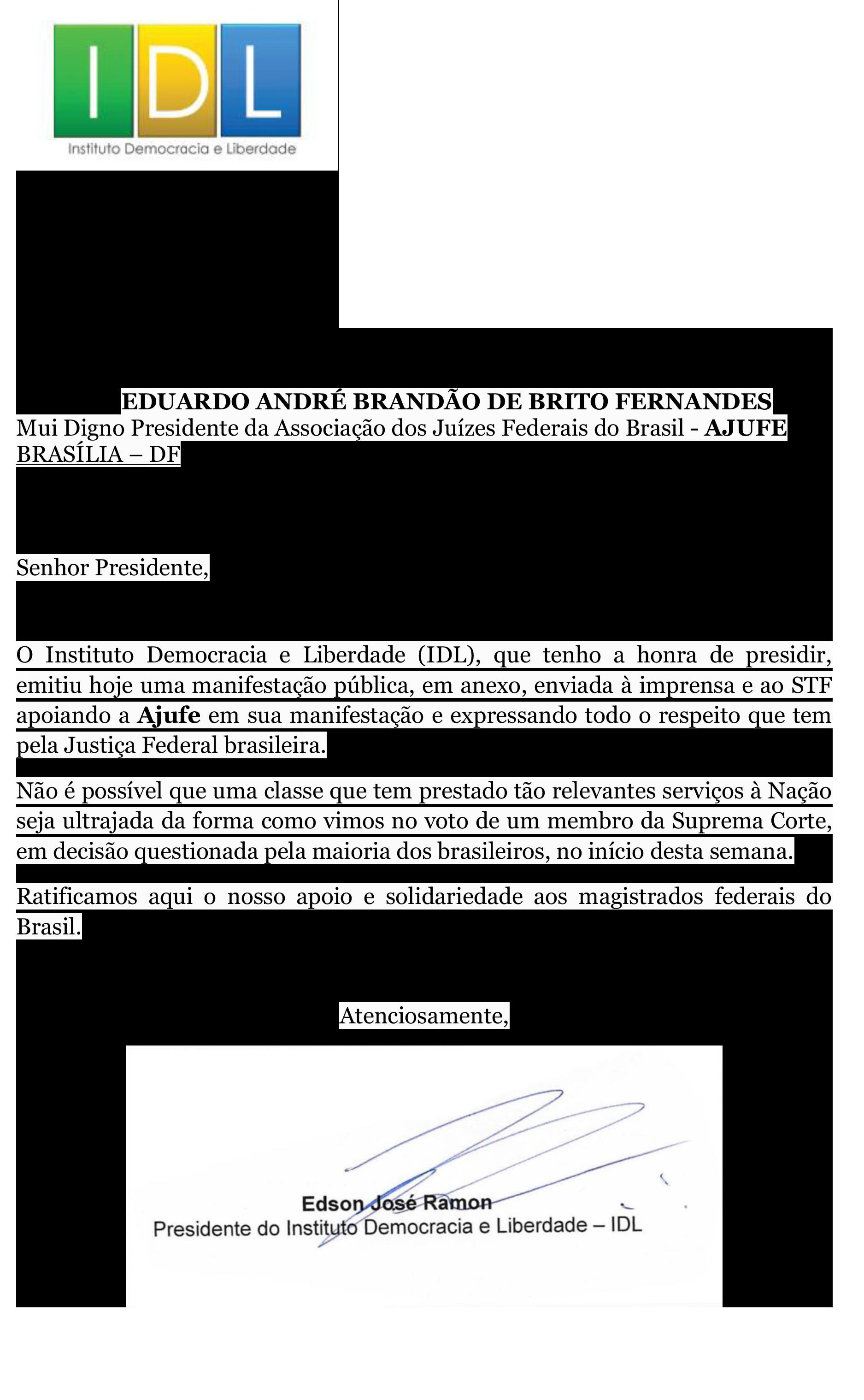 IDL - Carta em apoio à Ajufe (004)-1