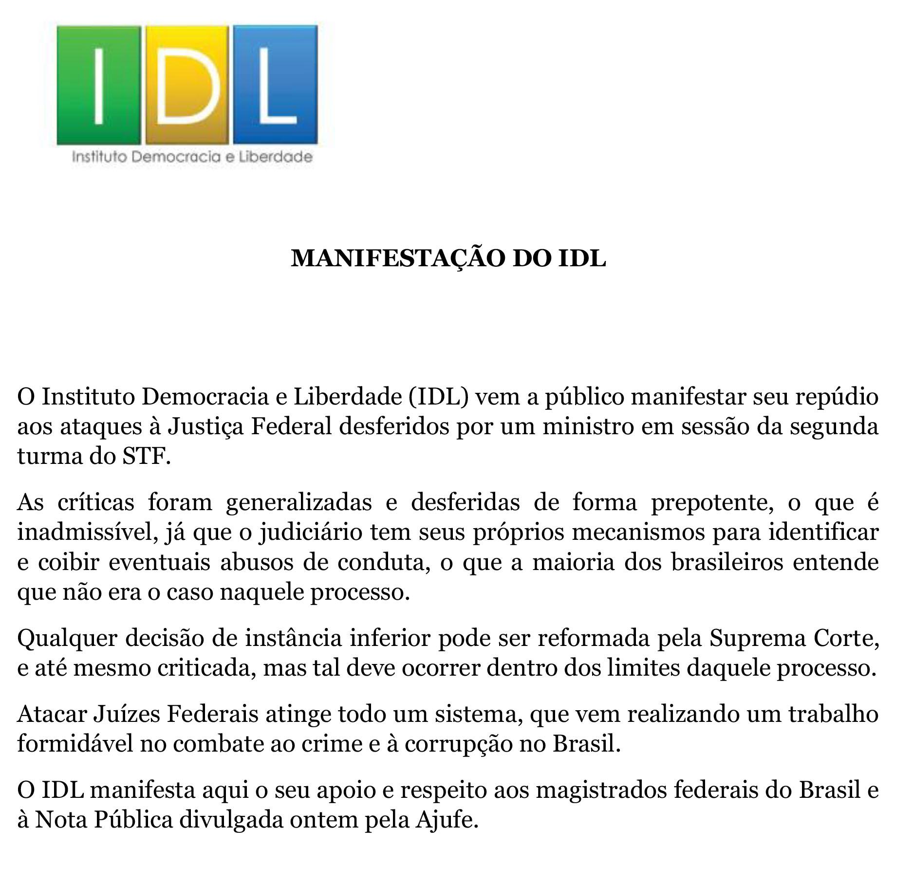 IDL - Carta em apoio à Ajufe (004)-2