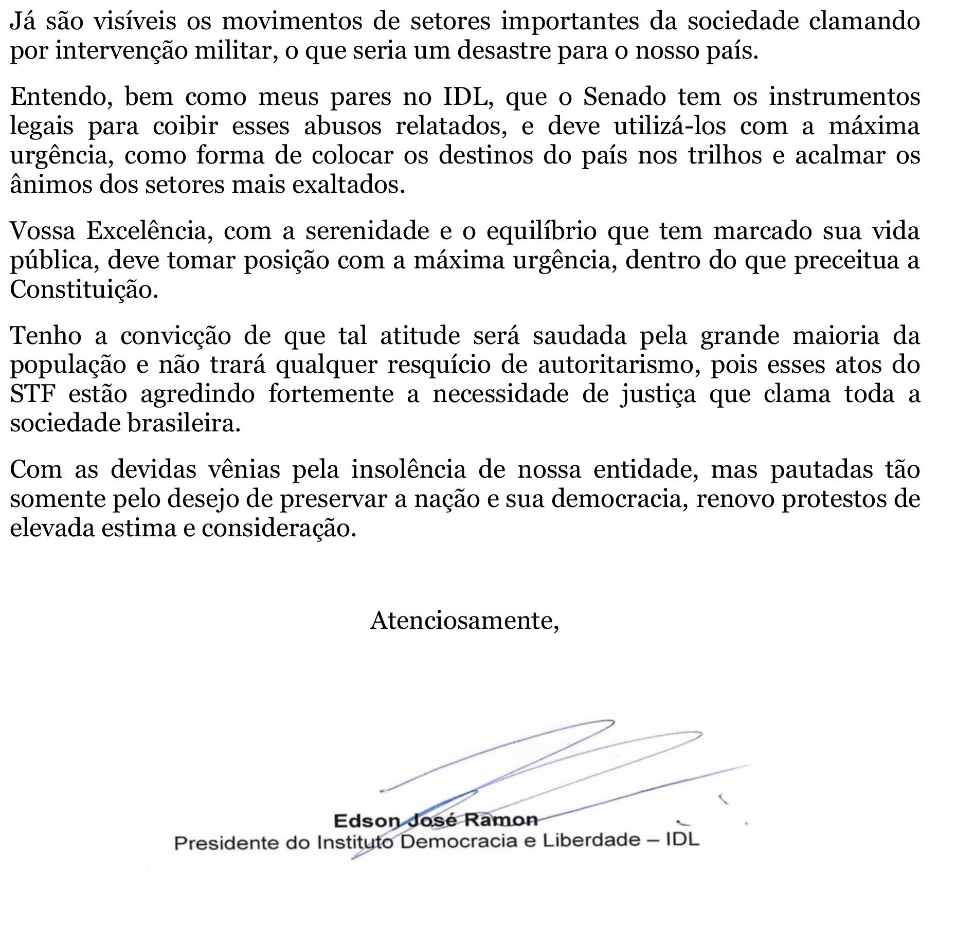 IDL - Carta a Rodrigo Pacheco, presidente do Senado-2
